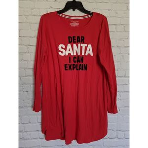 "VS ""Dear Santa I Can Explain"" Red Tunic"